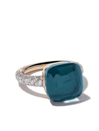 Pomellato 18kt rose & white gold Nudo topaz & diamond ring $6,750 - Buy SS19 Online - Fast Global Delivery, Price