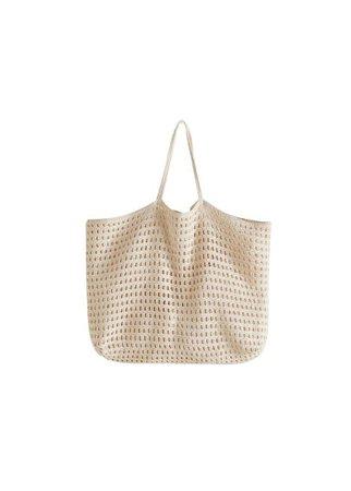MANGO Crochet shopper bag