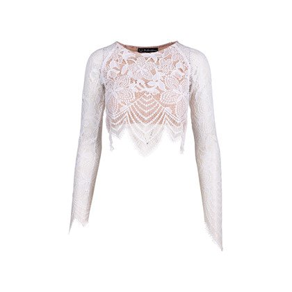 Authentic Second Hand For Love and Lemons Guava Crop Top (PSS-521-00008) - THE FIFTH COLLECTION