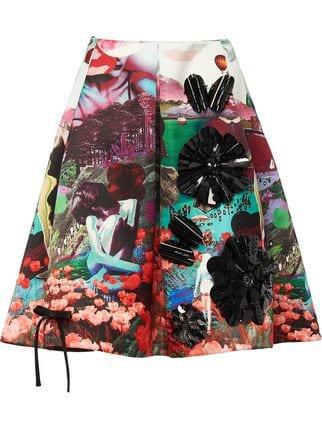 Prada Duchesse Skirt With Panorama Motif - Farfetch