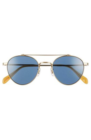 Oliver Peoples Watts 49mm Round Sunglasses | Nordstrom