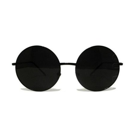 black circle glasses