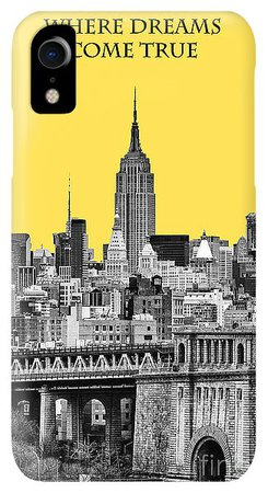 The Empire State Building Pantone Yellow IPhone XR Case for Sale by John Farnan