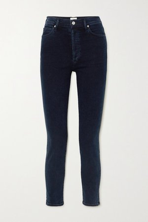 Olivia High-rise Slim-leg Jeans - Blue
