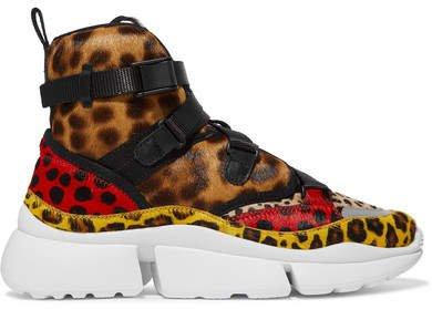 Sonnie Leopard-print Calf Hair High-top Sneakers - Leopard print