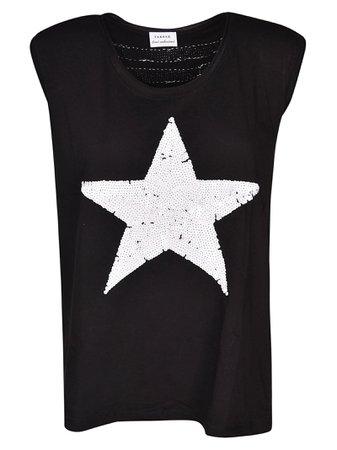 Parosh Sequin Star Tank Top