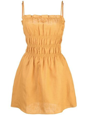 REFORMATION Tabatha dress yellow
