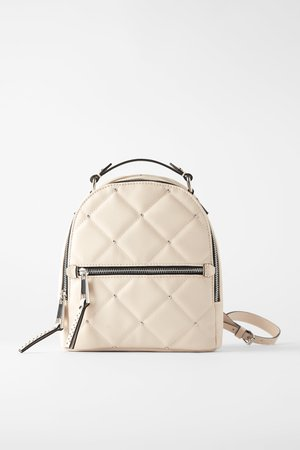 MEDIUM - SIZED QUILTED BACKPACK WITH STUDS-WOMAN-SHOES & BAGS-NEW IN | ZARA Canada