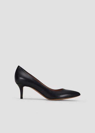 Leather Pumps With Stiletto Heel