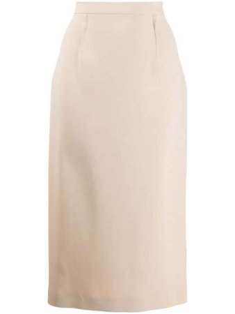 Roland Mouret Arreton Pencil Skirt ARRETONSKIRT Neutral | Farfetch