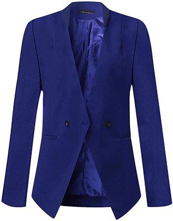 Auxo Women Long Sleeve Leopard Blazer Open Front Lapel Cardigan Jacket Work Office Suit Casual Thin Coat Leopard232 2XL at Amazon Women's Clothing store