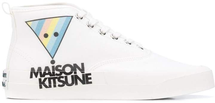 Logo Print Hi-Top Sneakers