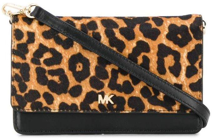 leopard print convertible crossbody bag