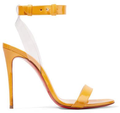 Jonatina 100 Pvc-trimmed Patent-leather Sandals - Yellow