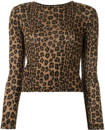 Pre Owned leopard print T-shirt