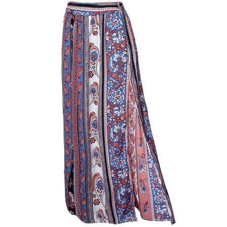 Multi-Colored Boho Maxi Skirt