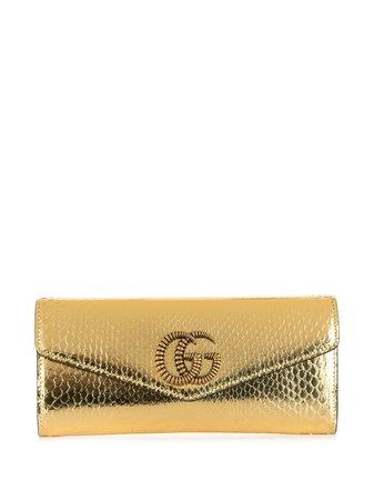 Gucci Broadway Metallic Clutch Bag - Farfetch