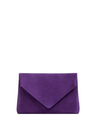 MANGO Leather envelope