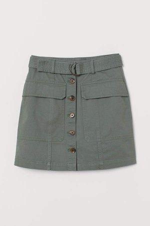 Short Utility Skirt - Green