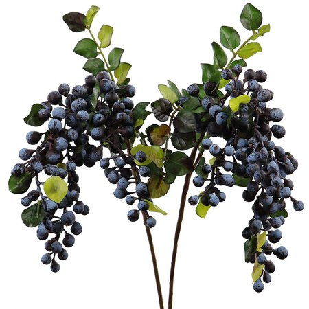 Buy Rinlong Artificial Berries Hanging Spray Frosted for Flowers Arrangement Home Hotel Decor 2pcs per Pack (Navy Blue) in Cheap Price on Alibaba.com