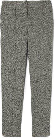 Herringbone Slim-Leg Trousers