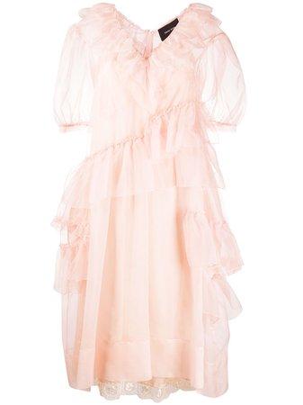 Simone Rocha ruffle-detail Midi Dress - Farfetch