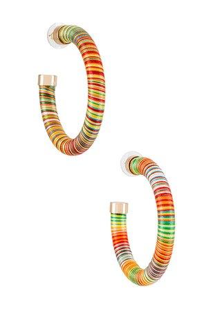 8 Other Reasons Hoop Earrings in Multi | REVOLVE