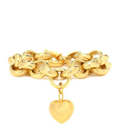 Exclusive To Mytheresa – Gold-Plated Bracelet With Heart Charm | Timeless Pearly - Mytheresa