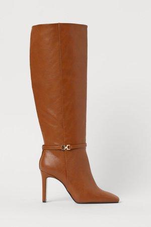 Knee-high Boots - Orange