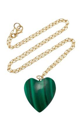18K Gold And Malachite Necklace by Haute Victoire | Moda Operandi