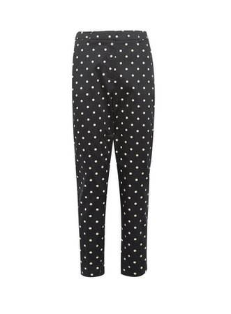 Black Spot Print Ankle Grazer Tailored Trousers | Dorothy Perkins