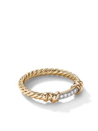 David Yurman 18kt yellow gold diamond Petite Helena wrap ring gold R16393D88ADI - Farfetch