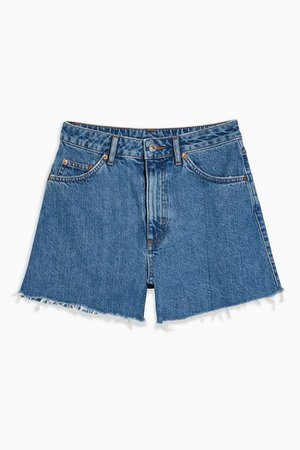 A Line Rich Denim Shorts | Topshop