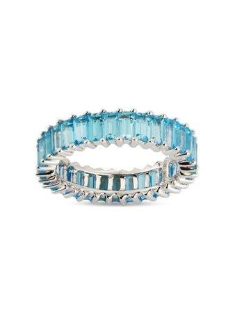 Dana Rebecca Designs 18kt white gold topaz Kristyn Kylie baguette ring white & blue R162755 - Farfetch