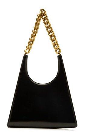 Rey Chain-Trimmed Leather Shoulder Bag By Staud | Moda Operandi