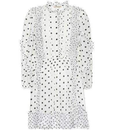 Presley polka-dot minidress