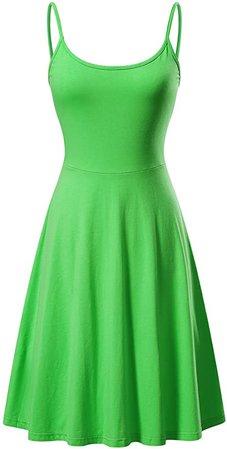 VETIOR Women's Sleeveless Adjustable Strappy Flared Midi Skater Dress at Amazon Women's Clothing store