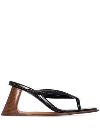 Marni Sculptured Wedge Thong Sandals - Farfetch