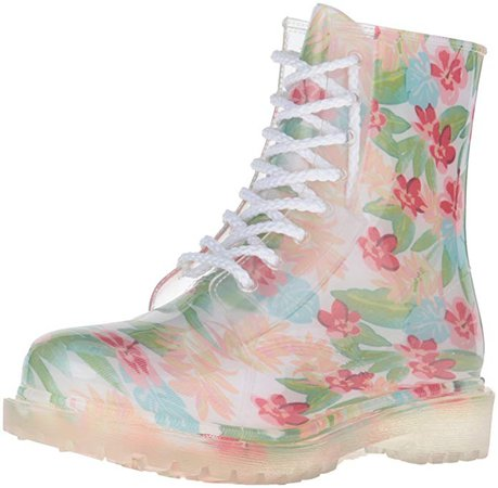 Amazon.com | Dirty Laundry by Chinese Laundry Women's Roadie Hawaiian Rain Boot, White, 7 M US | Ankle & Bootie
