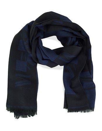Scarf, navy, blue | MADELEINE Fashion