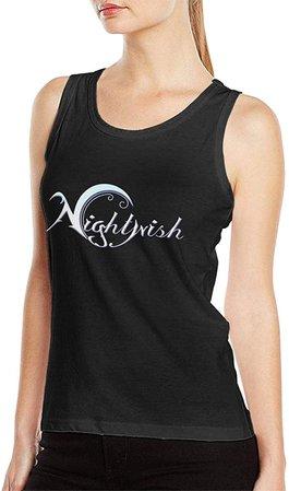 Amazon.com: LisaDGochenour Nightwish Tank Top Women's T Shirt Cotton Sleeveless Fitness Vest XL Black: Clothing