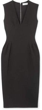 Crepe Midi Dress - Black