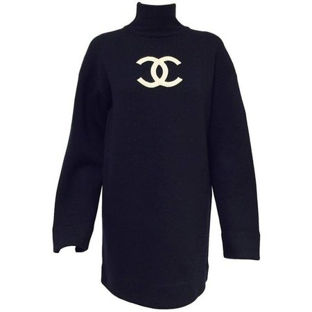 Chanel Logo Sweater turtle-neck dress