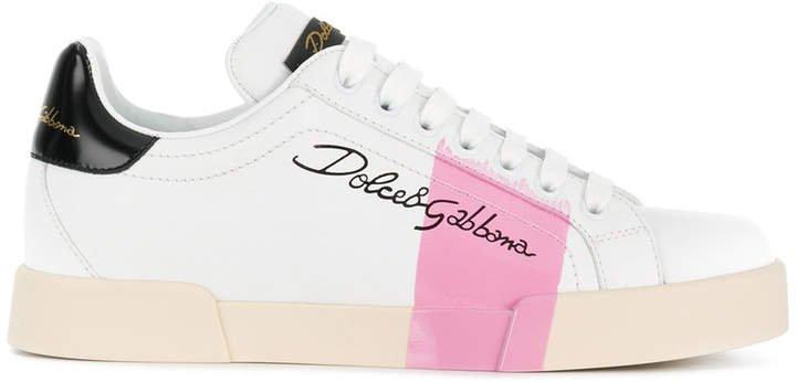 stripe panel sneakers