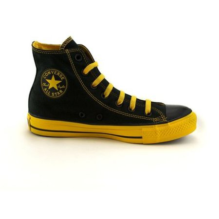 Black and Yellow Converse
