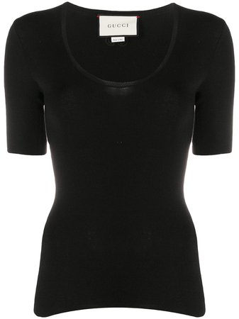 Gucci scoop-neck Knitted Top - Farfetch