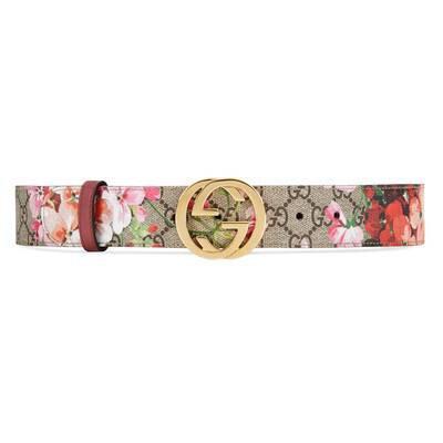 Blooms Print GG Belt   GUCCI® UK