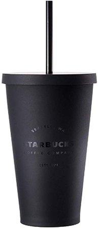 Amazon.com | Starbucks Acrylic Cold Cup Grande Tumbler - Matte Black, 16 Fl Oz: Tumblers & Water Glasses Cup