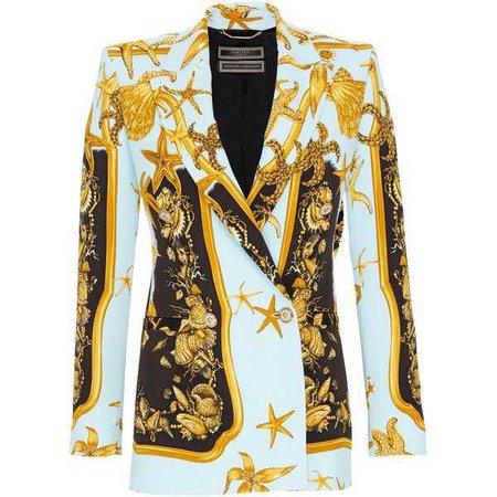 Versace Printed Tailored Blazer