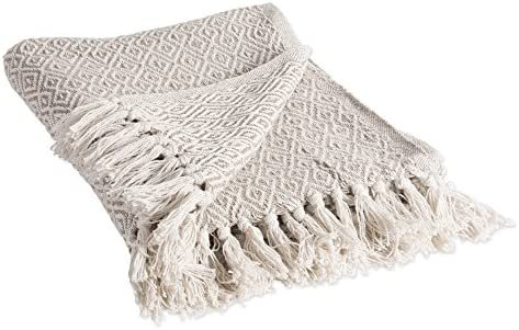 25 DII Rustic Farmhouse Cotton Diamond Blanket Throw with Fringe for Chair, Couch, Picnic, Camping, Beach, Everyday Use, 50 x 60 - Double Diamond Stone: Amazon.ca: Home & Kitchen